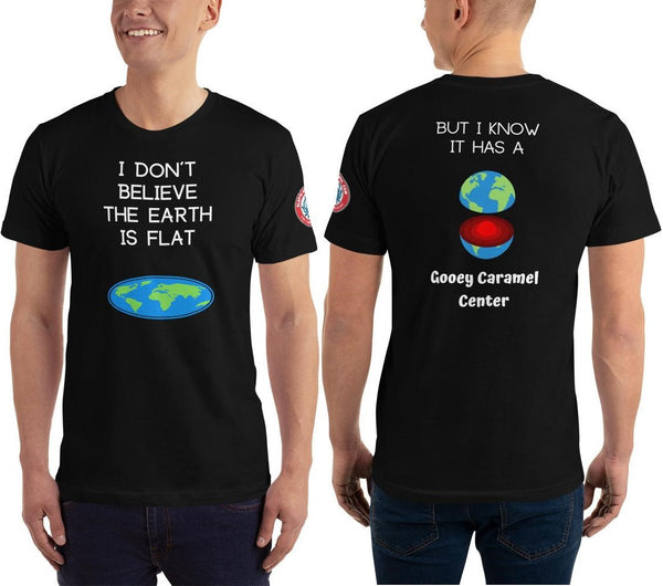 See Both Sides--Flat Earth Unisex T-Shirt - SloppyOctopus.com
