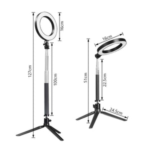 LED Ring Light with Stretchable Tripod Stand