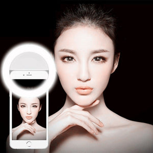 Self-timer Light Phone Ring with USB Charger