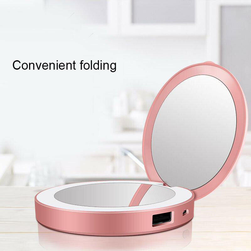 Mini Portable HD Makeup Mirror with LED Light
