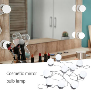 Vanity LED Light Bulbs Kit - 10 pieces for your Makeup Mirror