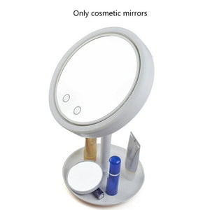 Desktop Led Lamp for Sweat-Free Makeup - Lighted Mirror With Fan