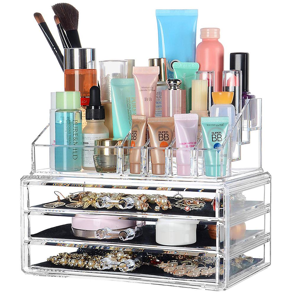 Makeup Storage Rack with Drawers