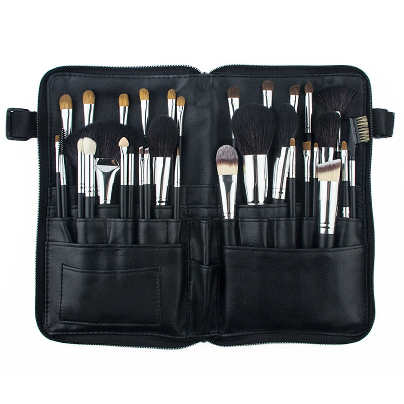 Natural Hair Professional 32 Pcs Makeup Brushes Set with Cosmetic Bag