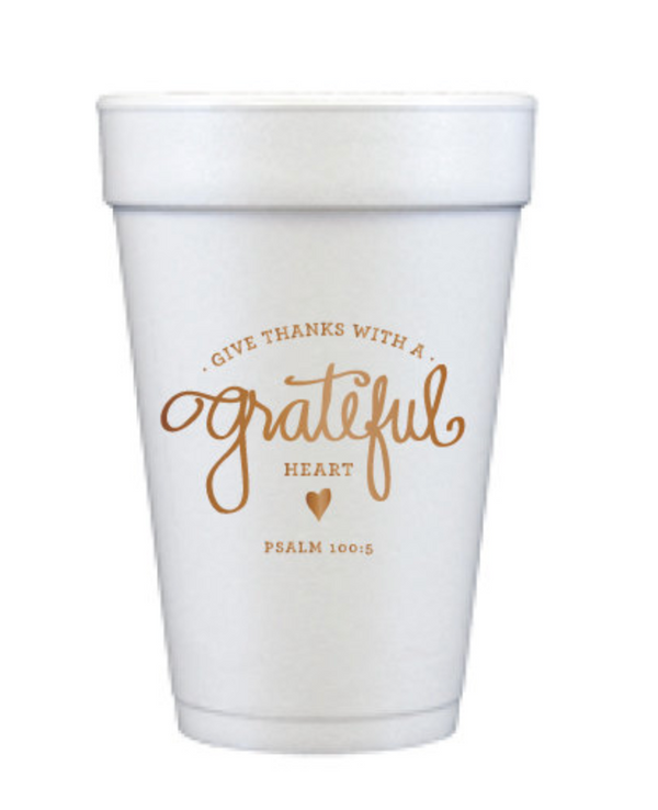 Thanksgiving Foam Cups / MINIMUM 4 TO SHIP