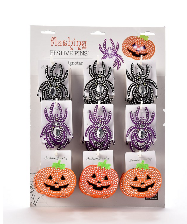 Halloween Flashing Pin