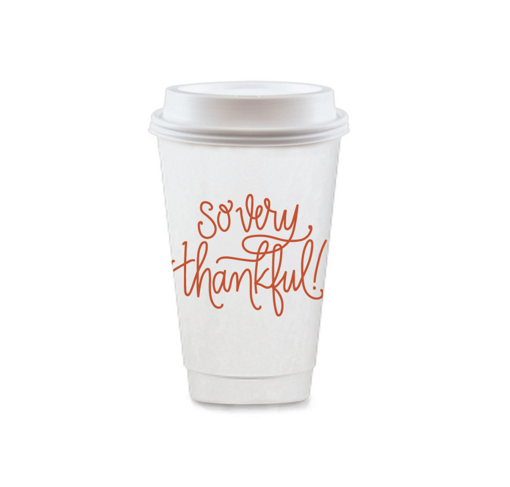 Thanksgiving To Go Coffee Cups / MINIMUM 4 TO SHIP