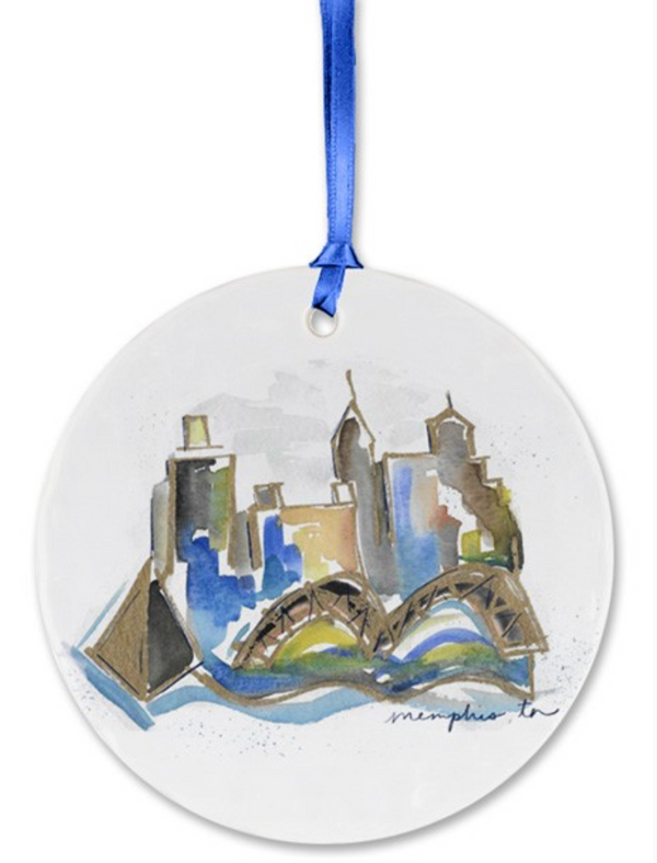 Memphis Watercolor Ornament