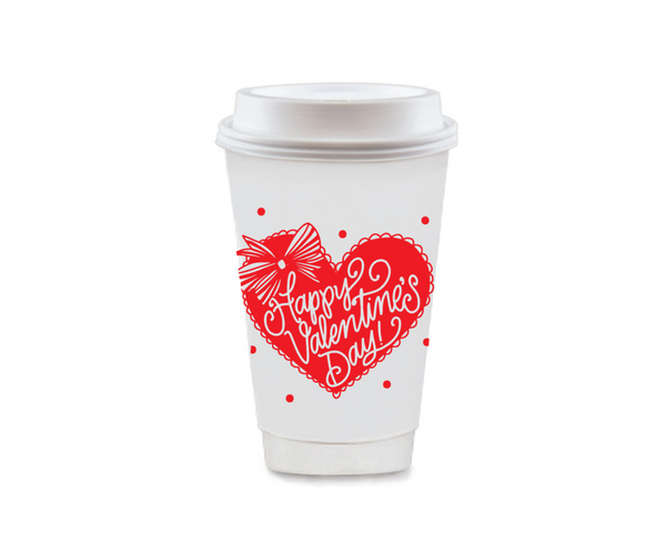 Valentine's Day To Go Coffee Cups
