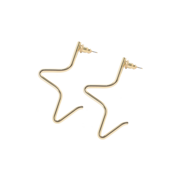 Large Half Star Earring