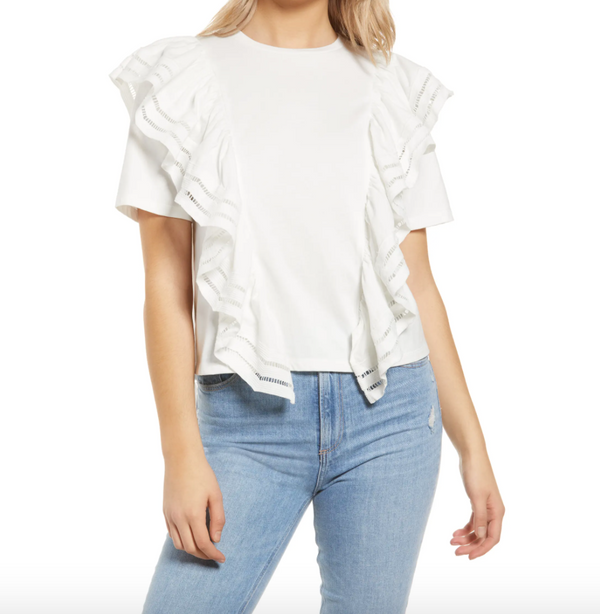 Lace Trim Detail Tee
