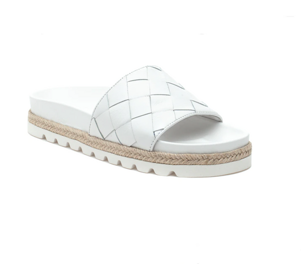 Rollie White Leather Sandal