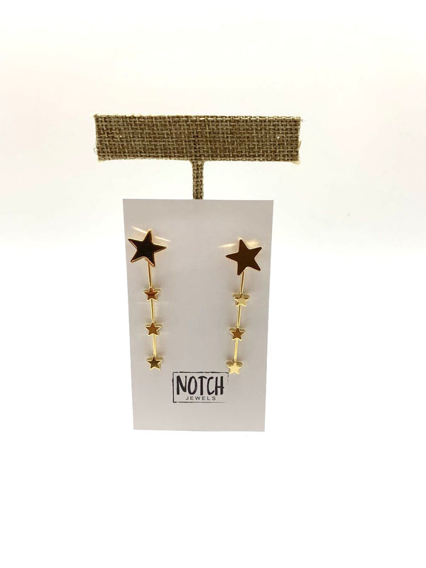 Notch Dangle Earrings