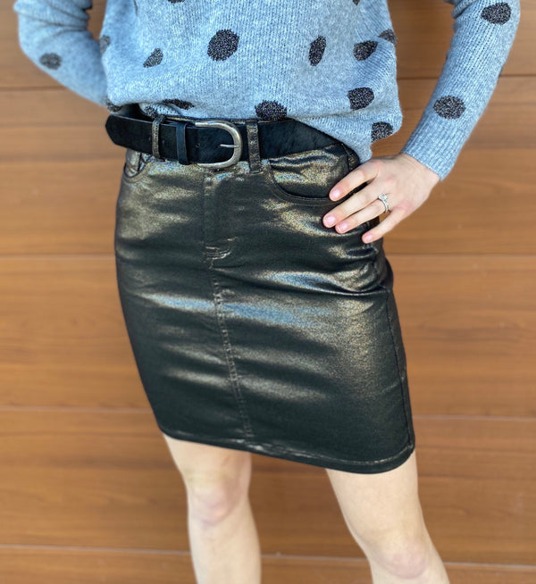 Mini Coated Skirt