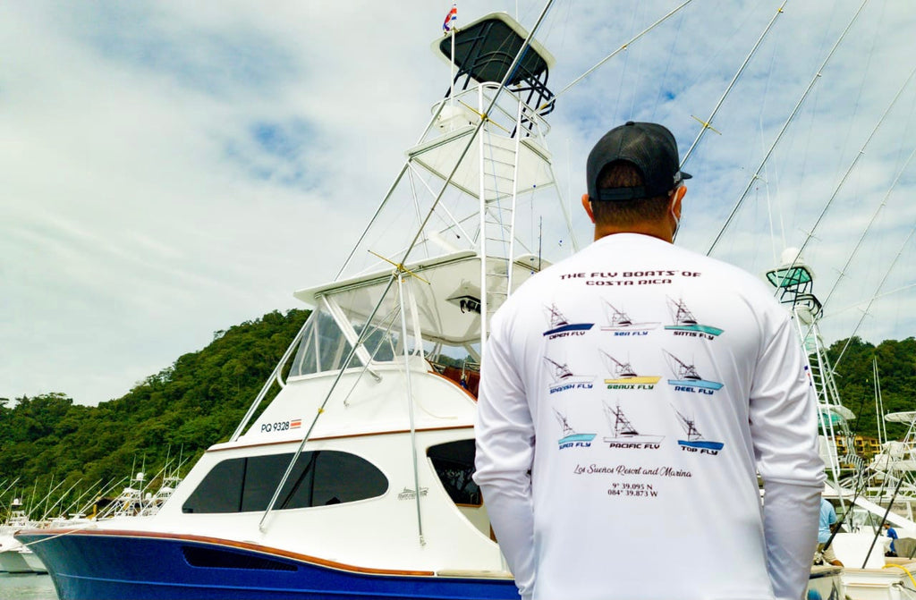 Classic Collection - The Fly Boats™ of Costa Rica - Men's Long Sleeve Dry-fit Shirt