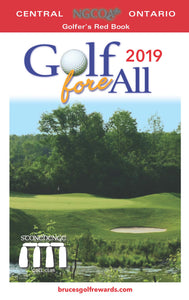 Golfer's red book, Golf Fore All, Golf, Southern Ontario, Golf courses, Discount Coupons
