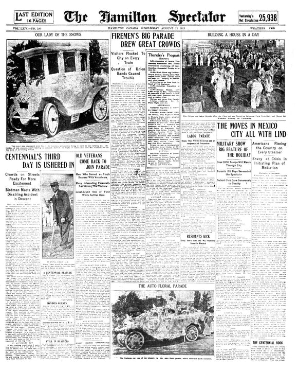 Image of August 13, 1913 - House in a Day Page Reprint