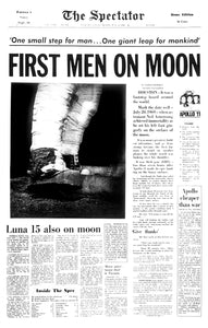 Image of July 21, 1969 - First Men on Moon Page Reprint