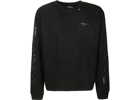 OFF-WHITE Unfinished Diag Sweatshirt Black/Silver