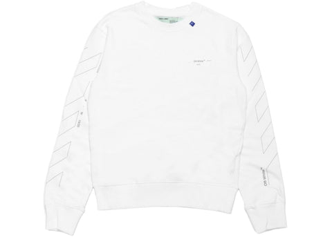 OFF-WHITE Unfinished Diag Sweatshirt White/Silver