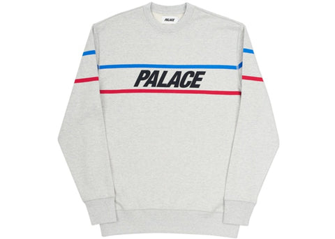 Palace Double Ripe Crew Grey Marl