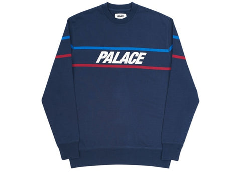 Palace Double Ripe Crew Navy