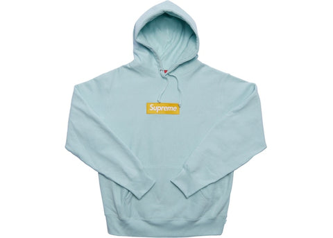 Supreme Box Logo Hooded Sweatshirt (FW17) Ice Blue