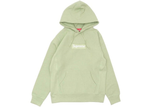 Supreme Box Logo Hooded Sweatshirt (FW16) Sage