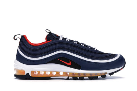 Air Max 97 GS Midnight Navy Habanero Red