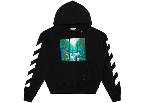OFF-WHITE Diag Waterfall Hoodie Black/Multicolor