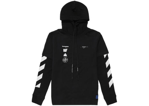 OFF-WHITE Diag Mariana Hooded T-Shirt Black/Multicolor