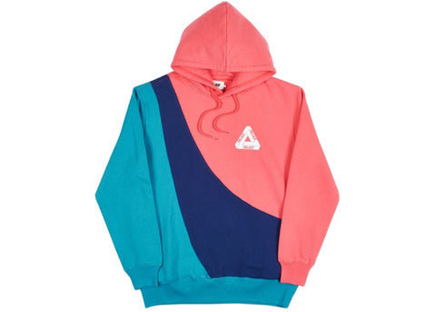 Palace Sweeper Hood Pink/Navy/Teal