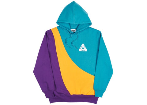 Palace Sweeper Hood Teal/Gold/Purple