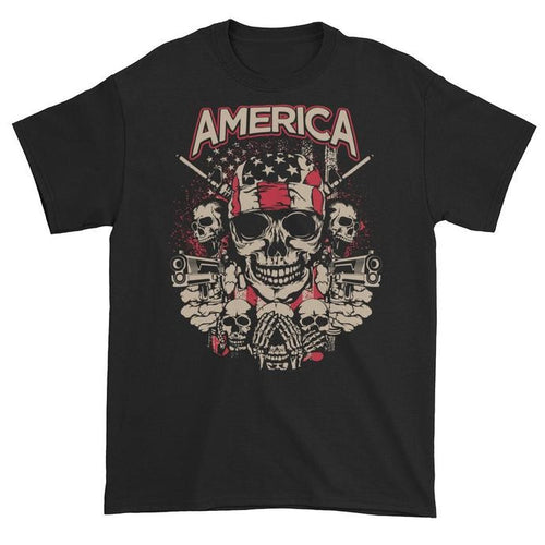 America Hear Speak See No Evil Black Unisex Short Sleeve T-Shirt