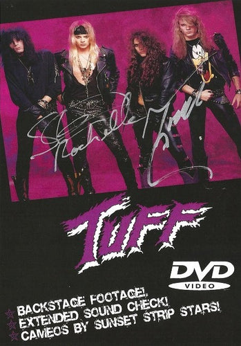 Tuff 'Live at The Roxy July 1990' DVD Autographed by Stevie and Todd