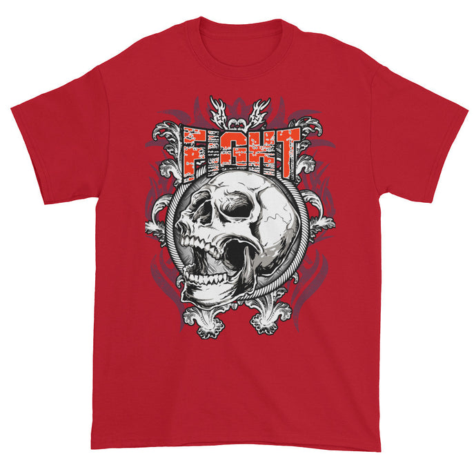 Fight Skull Red Short Sleeve Unisex T-Shirt