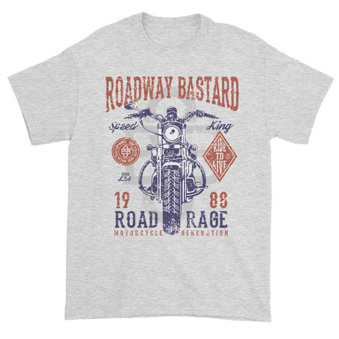 Roadway Bastard Grey Short Sleeve Unisex T-Shirt