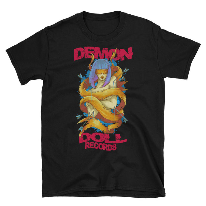 Demon Doll Records Girl Logo Black Unisex T-Shirt