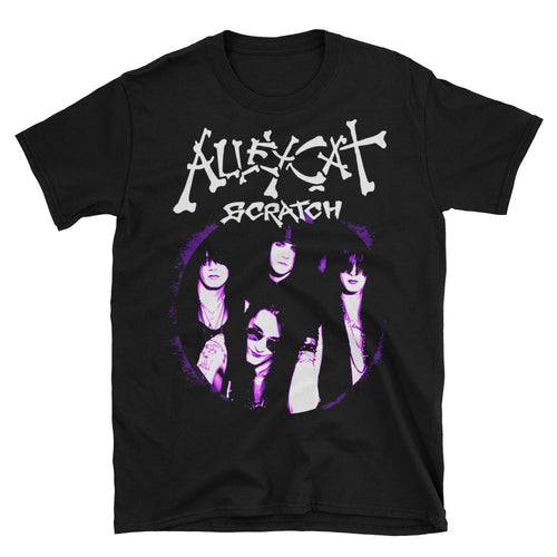 Alleycat Scratch Black & Purple Unisex T-Shirt
