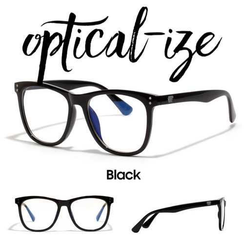 BLACK - Retro Blue Light Blocking Glasses