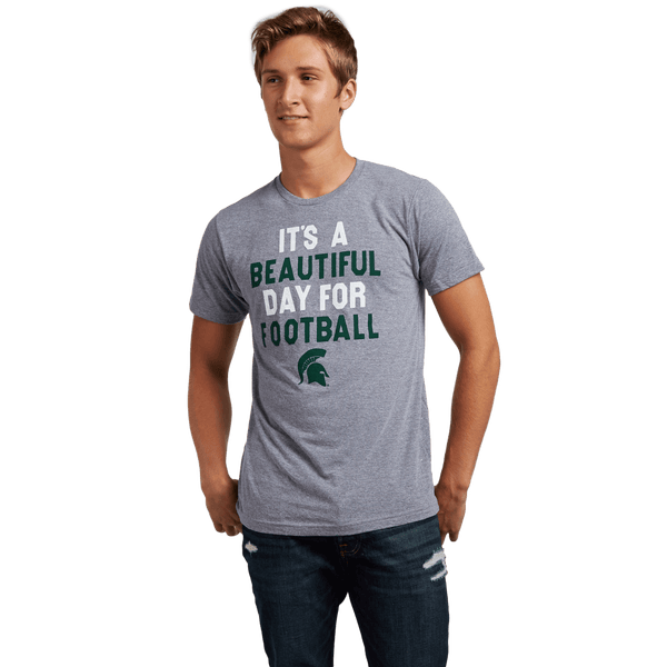 Beautiful Day For Football Michigan State Spartans T Shirt