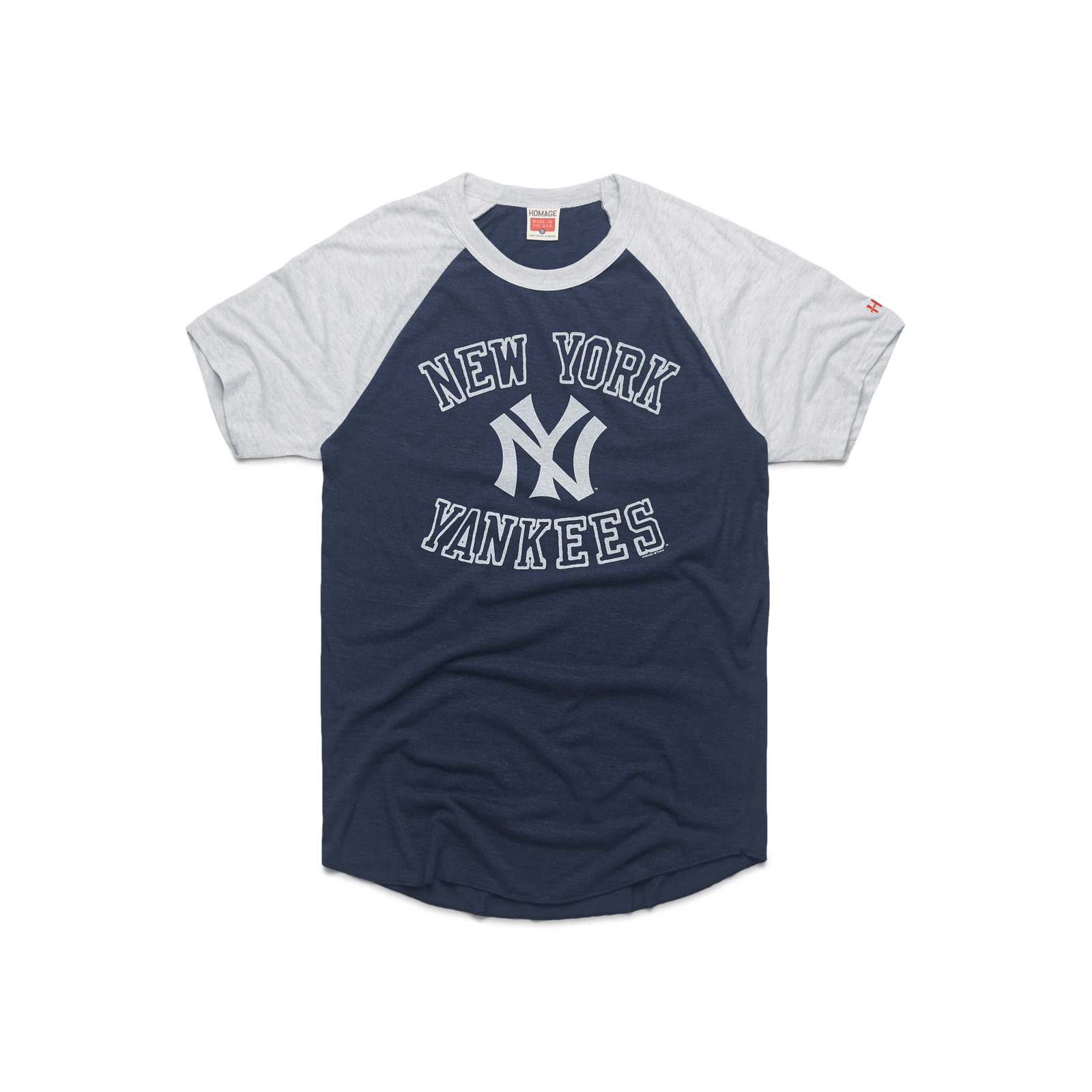 Block New York Yankees Baseball T-Shirt Retro NYC MLB Tee Shirt – HOMAGE 2a009be57d2