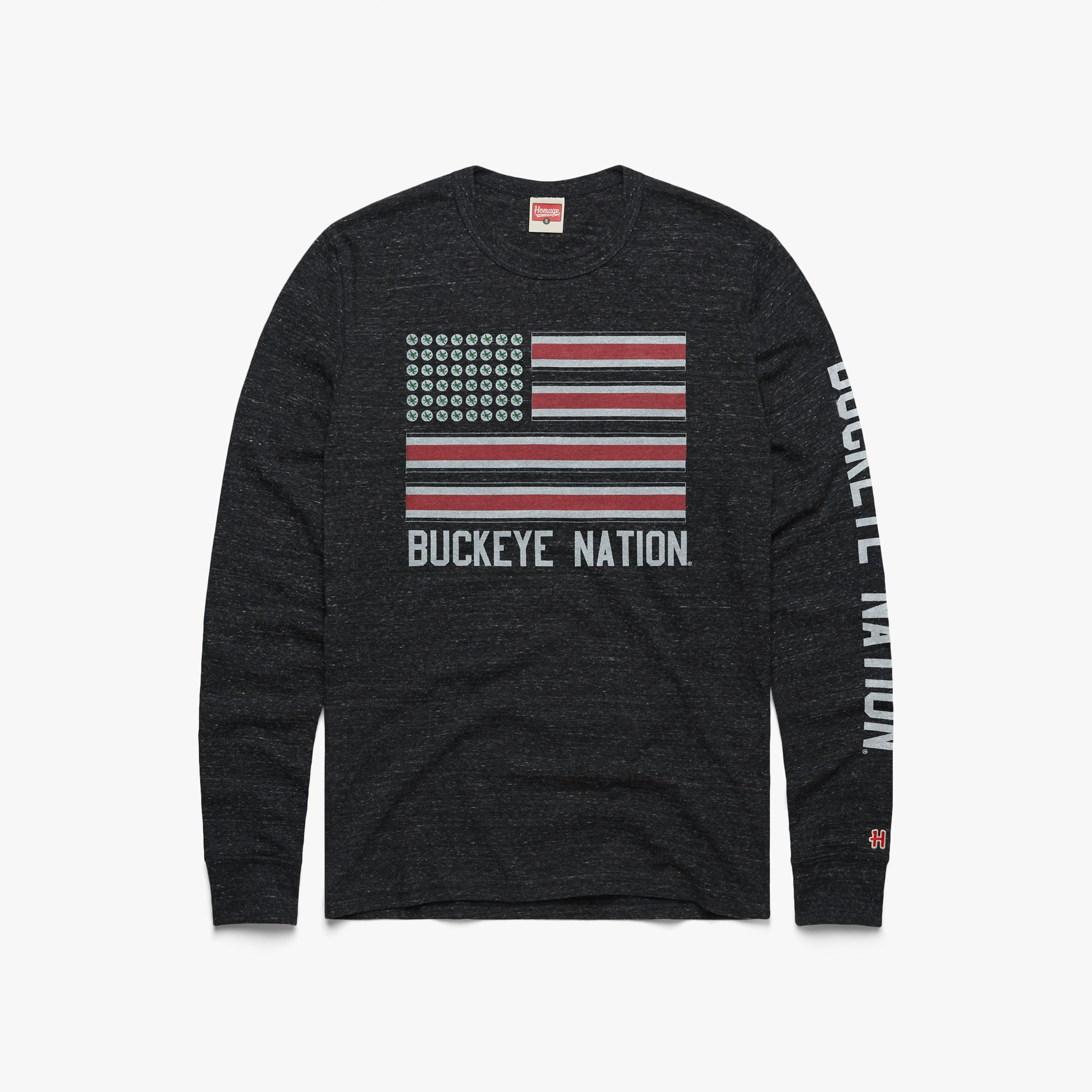 Buckeye Nation Flag Long Sleeve Tee