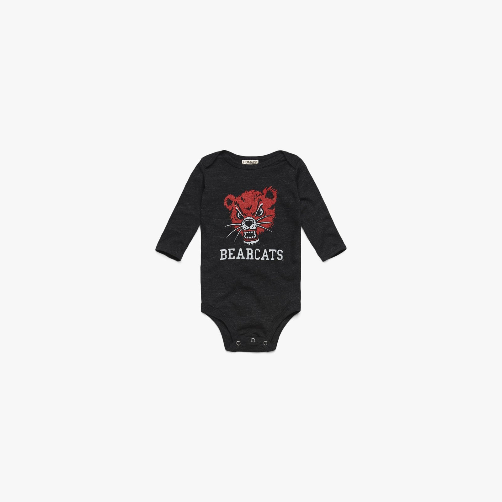 Cincy Bearcats Long Sleeve Baby One Piece