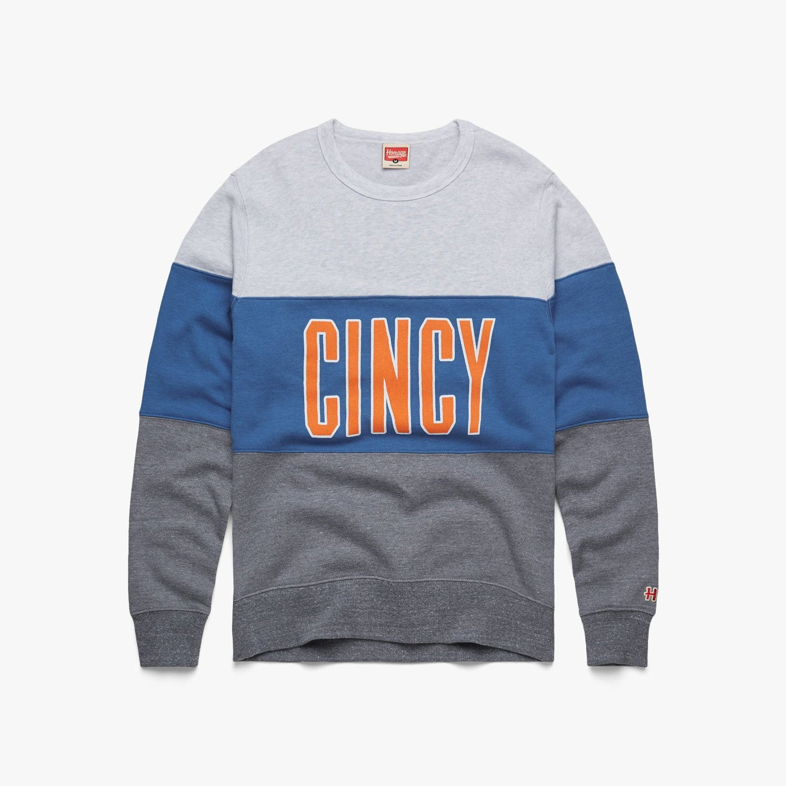 Cincy Impact Stripe Crewneck