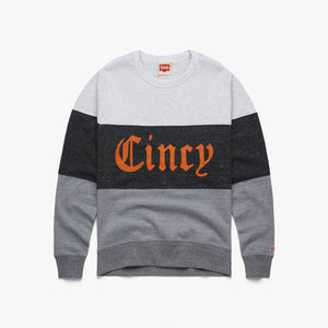 Cincy Olde English Stripe Crewneck