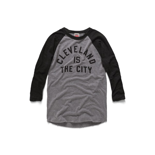 Cleveland Is The City Raglan Ohio Long Sleeve T Shirt Homage