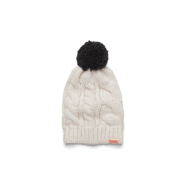 HOMAGE Cable Knit Pom Hat