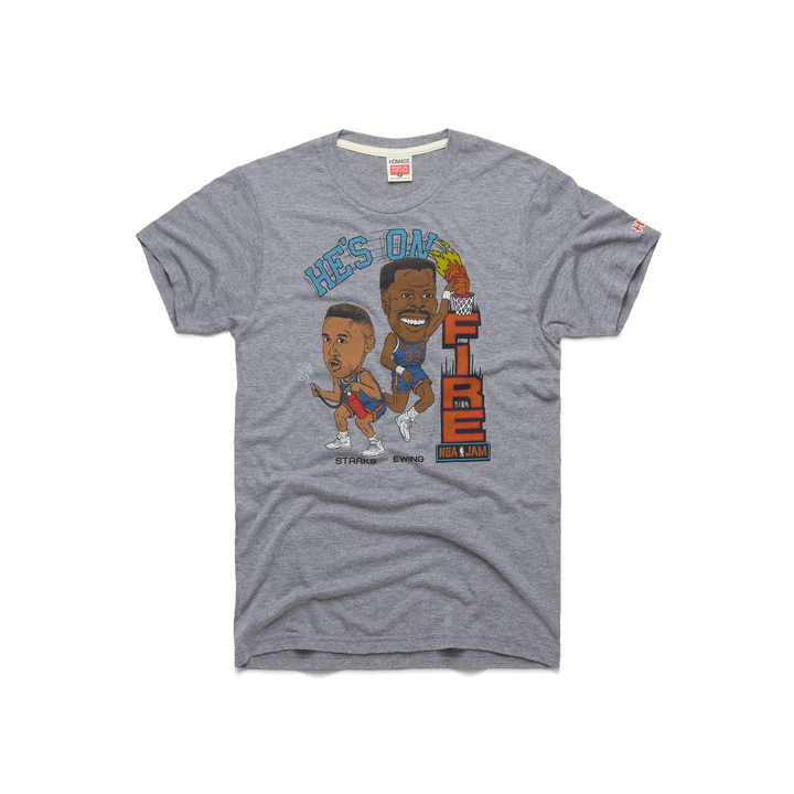 53332321134 He's On Fire Starks And Ewing New York Knicks NBA Jam T-Shirt ...