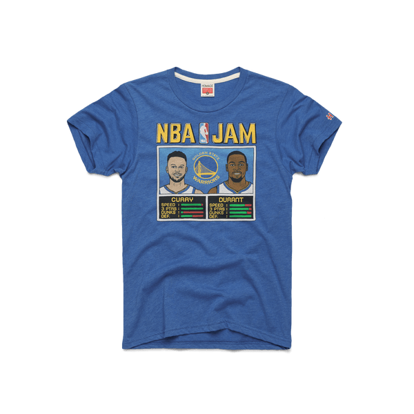 2f8a2288b9a NBA Jam Warriors Curry And Durant Golden State Players T-Shirt – HOMAGE